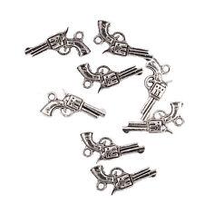 revolver hand gun pistol Tibetan Silver Bead charms Pendants 21*16mm 10pcs