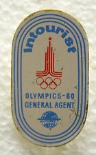 f865 Russia 1980 Moscow Old badge NOC pin Olympic GENERAL AGENT Olympics
