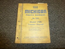 Clark Michigan 175A Tractor Shovel Wheel Loader Part Catalog Manual