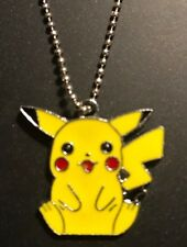 """18"""" Stainless Steel Ball Dainty Chain Necklace With Pikachu Charm Pendant"""