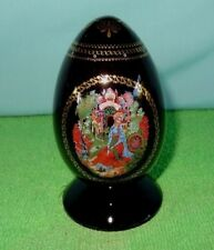 1986 Hand Painted The Scarlet Flower Russian Fairy tale Egg W/COA NEW