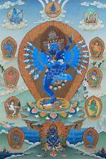 Thangka of Hevajra with Consort, Vajra Nairatmya and the 8 Dakinis
