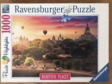 puzzle 1000 pièces Ravensburger Montgolfières sur Myanmar