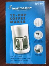 Coffe Maker 12-Cup Toastmaster 2004 Model TCM12W NEW
