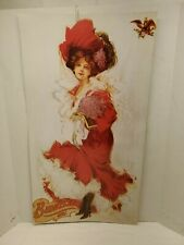 Budweiser Girl Lady in Red Print Poster cardboard collectible