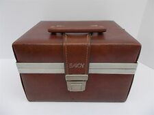 Vintage SAVOY 8 TRACK TAPE CASE Faux Leather Holds 12 CARTRIDGES