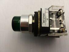ALLEN BRADLEY 800T-QTH24G PILOT LIGHT PUSH-TO-TEST GREEN LED 24VAC-DC 1NO/1NC