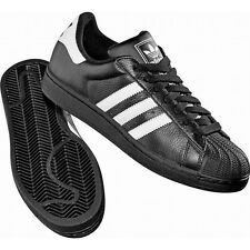 adidas Superstar 2 Trainers Leather Black White Mens Sports Fashion G17067 UK 9