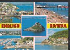 Devon Postcard - Views of The English Riviera, Brixham, Torquay etc B2594