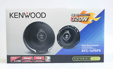 "Kenwood 6-1/2"" Round 3-Way Mount Coaxial Car Speakers- KFC-1695PS-New"