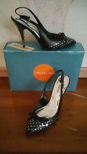 karen millen black size 38 5 stud heels