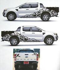MATT BLACK WILDTRAK STICKER COVER CAR DECAL VINYL FOR FORD RANGER T6 12 13 14