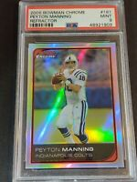 2006 Bowman Chrome REFRACTOR #181 Peyton Manning, PSA 9 / MINT