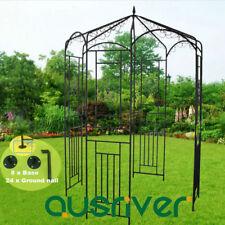 Garden Metal Arch Gazebo Outdoor Gate Shade Arbour Home Yard Entry Wedding Decor