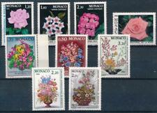 [16256] Monaco flowers good lot very fine MNH stamps