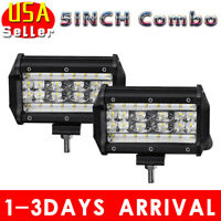 5inch 168W Quad ROW LED Work Light Bar Flood Combo Pods Driving Off-Road 4WD 12V