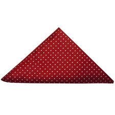 TIES R US Red and White Polka Dot Pocket Square Handkerchief Wedding Prom Hanky