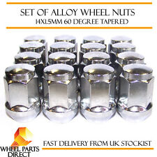Alloy Wheel Nuts (16) 14x1.5 Bolts Tapered for Saab 9-5 [Mk2] 10-12