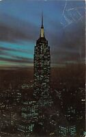 BR30055 Empire State Building at night New york United States