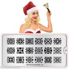 MoYou London FESTIVE 37 Collection Stamping Schablone, Weihnachten Herz Stern