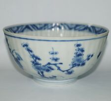 Qing dynasty 18th century blue and white bowl with flower motif B17