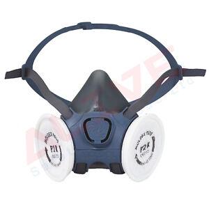 MOLDEX Half Face Masks 7002 Respirator & 9020 P2 R Particulate Filters (1 Pair)