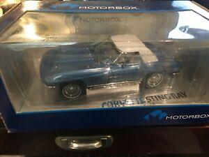 1/18  EXOTO MOTORBOX 1967 CORVETTE 327 CONVERTIBLE - BLUE NEW!!