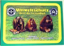 Aufkleber / Postkarte > UMWELTSCHUTZ ...< alt + selten!