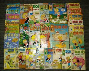 Bundle Lot of 28 RICHIE RICH Harvey Classics Vintage Digest Magazines and Comics
