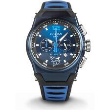 Locman Orologio Uomo cronografo MARE cassa acciaio titanio PVD Blu