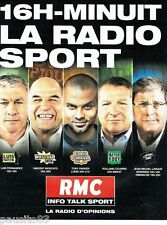PUBLICITE ADVERTISING 116  2013  radio RMC   info talk sport