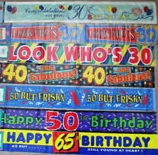 Plastic Birthday, Adult Party Banners, Buntings & Garlands