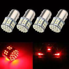 4x Super Bright BAY15D Red 1157 Brake Parking Revers 50 SMD Car Lights LED Bulbs