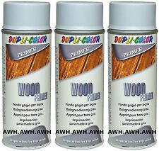 3x400ml Holzgrundierung Lackspray Vorlack Spray Untergrund Primer Haftgrund Grau