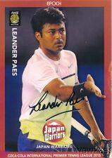 Leander Paes 2015 Epoch IPTL Tennis Silver Foil Facsimile Signature #/20 MINT