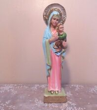 "Our Lady of Perpetual Help 12"" Antique Religious Statue Columbia Altar Statuary"