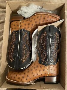 Dan Post Men's Saddle Quilled Western Boot - Wide Square Toe - DPS528  Size 10