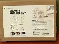 StorageWorks Collapsible Storage Boxes with Cotton Rope Handle Large 3-Pack NIB