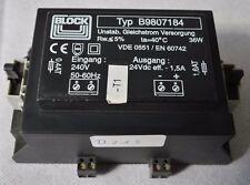Block Transformator Typ B9807184 Unstab. Gleichstrom Versorgung 230V/24V (D.213)