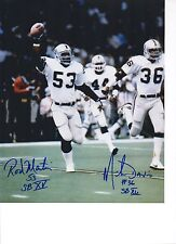Rod Martin Mike Davis Oakland Raiders Signed 8x10 Photo SB XV