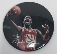 "MICHAEL JORDAN Chicago Bulls NBA Basketball 3"" BUTTON Pin Vintage"