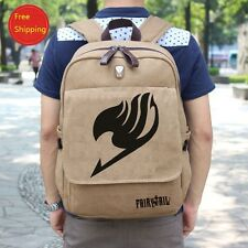 FAIRY TAIL Natsu Lucy Dragneel Guild Cosplay Canvas Backpack School Bag