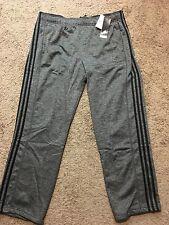 NWT ADIDAS Men's 3 Stripe Tech Fleece Pants, Gray Black Climawarm, 2XL MSRP$55