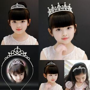Kids Children Crystal Rhinestone Wedding Bridal Crown Tiara Headband UK Stock