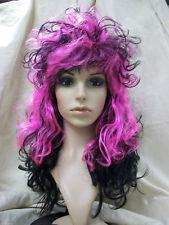 Sexy Pink Black French Maid Wig Goth Rocker Vampire Madame Fantasy Cosplay Fi Fi