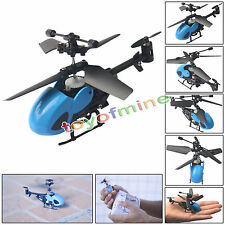 QS5010 Helicopter Blue High Quality 3.5CH Micro Remote Control as gift free post