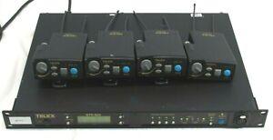 Telex BTR 80N RadioCom Base & 4 TR 80N Beltpacks, For Parts/ Repair