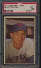 1953 Bowman Color #42 Tommy Brown  PSA 7 OC NM 55451