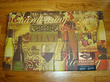 Anti Fatigue Memory PVC Foam Kitchen Mat Rug 18x30 Fruit WINE Vineyard VINTAGE
