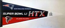 """Atlanta Falcons vs New England Patriots Superbowl LI Collectors Penn 12"""" x 30"""""""